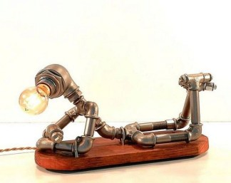 Fascinating Industrial Pipe Lamp For Home 43