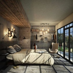 Modern Style For Industrial Bedroom Design Ideas 22