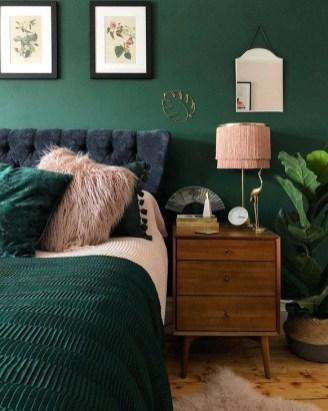Natural Green Bedroom Design Ideas 07