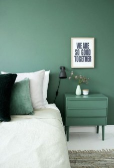 Natural Green Bedroom Design Ideas 21