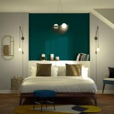 Natural Green Bedroom Design Ideas 27