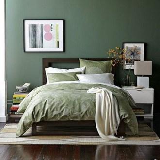 Natural Green Bedroom Design Ideas 35