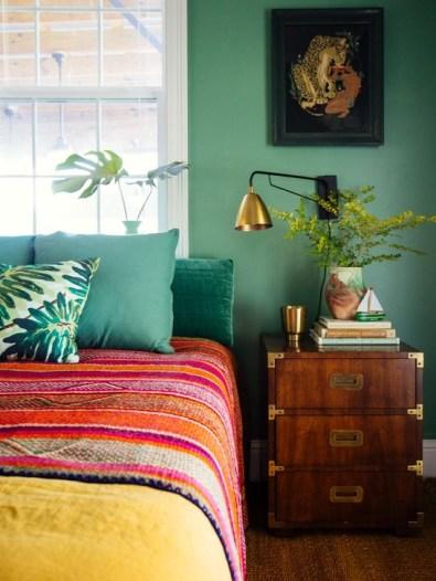 Natural Green Bedroom Design Ideas 41