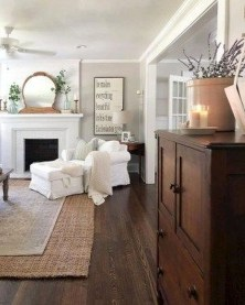 Rustic Farmhouse Fireplace Ideas For Your Living Room 04