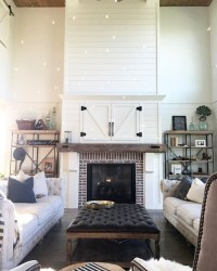 Rustic Farmhouse Fireplace Ideas For Your Living Room 13