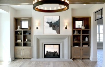 Rustic Farmhouse Fireplace Ideas For Your Living Room 23