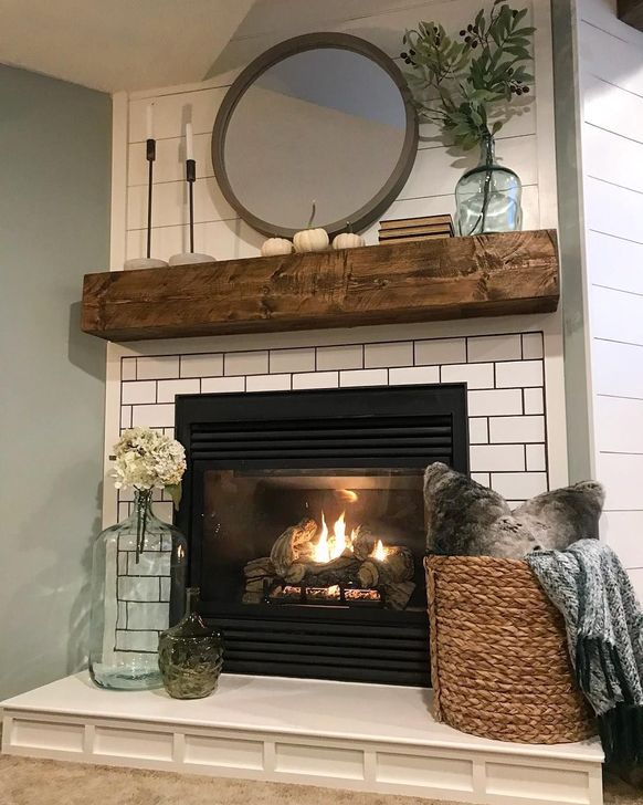 Living Room With Fireplace Design Ideas: 54 Rustic Farmhouse Fireplace Ideas For Your Living Room