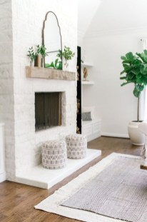 Rustic Farmhouse Fireplace Ideas For Your Living Room 46