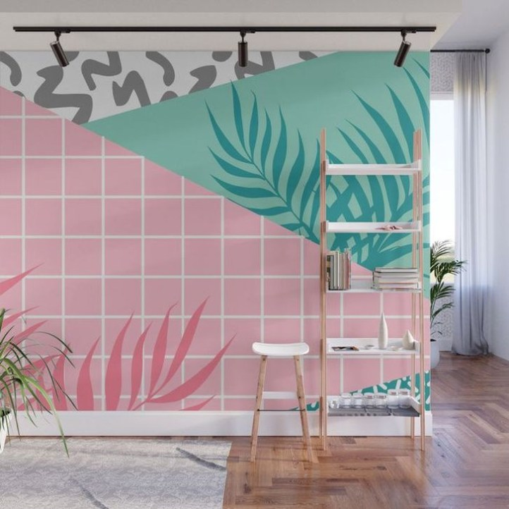 Best Ideas Of Tropical Wall Mural For Summer 01
