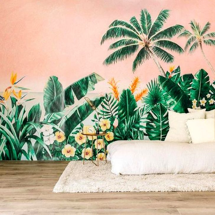 . 60 Best Ideas Of Tropical Wall Mural For Summer   HOMYSTYLE