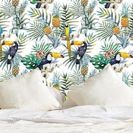 Best Ideas Of Tropical Wall Mural For Summer 12