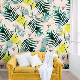 Best Ideas Of Tropical Wall Mural For Summer 33