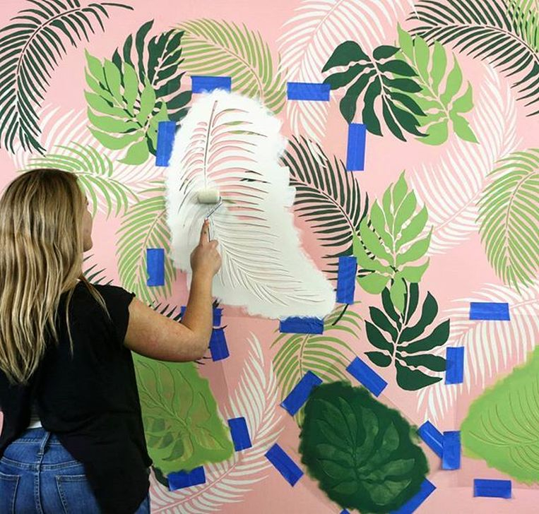 Best Ideas Of Tropical Wall Mural For Summer 36