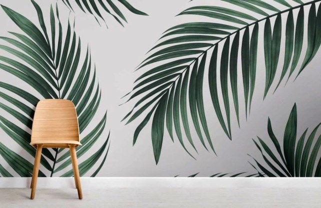Best Ideas Of Tropical Wall Mural For Summer 44