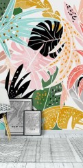 Best Ideas Of Tropical Wall Mural For Summer 60
