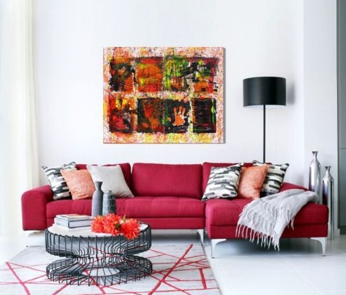 Comfy Colorful Sofa Ideas For Living Room Design 10