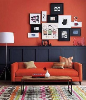Comfy Colorful Sofa Ideas For Living Room Design 43