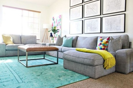 Comfy Colorful Sofa Ideas For Living Room Design 47