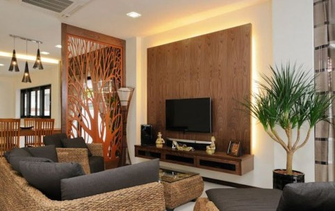 Cool Partition Living Room Ideas 19
