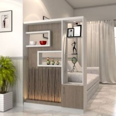 Cool Partition Living Room Ideas 24