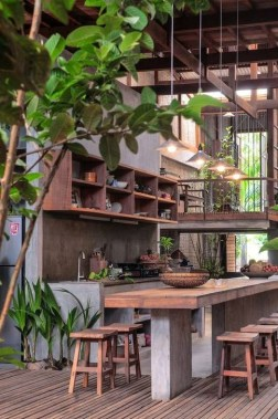 Cozy Outdoor Kitchen Design Ideas 46