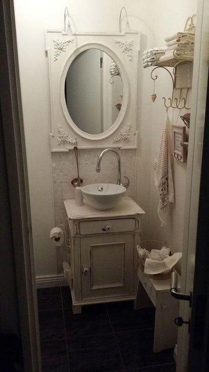 Cute Shabby Chic Bathroom Design Ideas 01