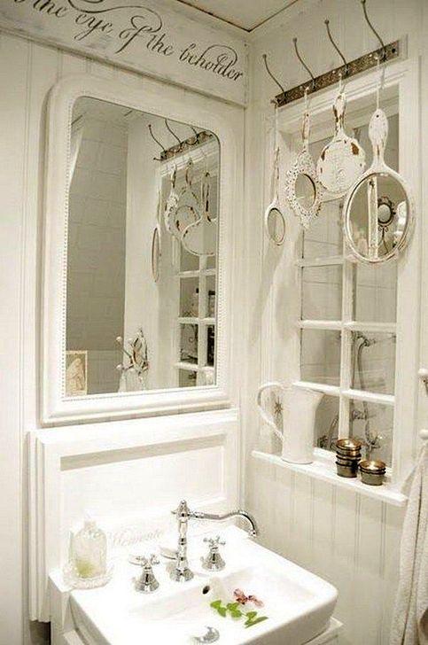 Cute Shabby Chic Bathroom Design Ideas 09