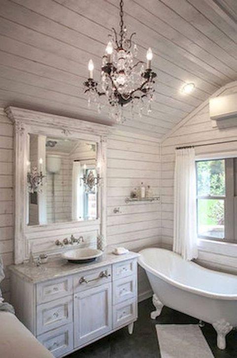 Cute Shabby Chic Bathroom Design Ideas 19