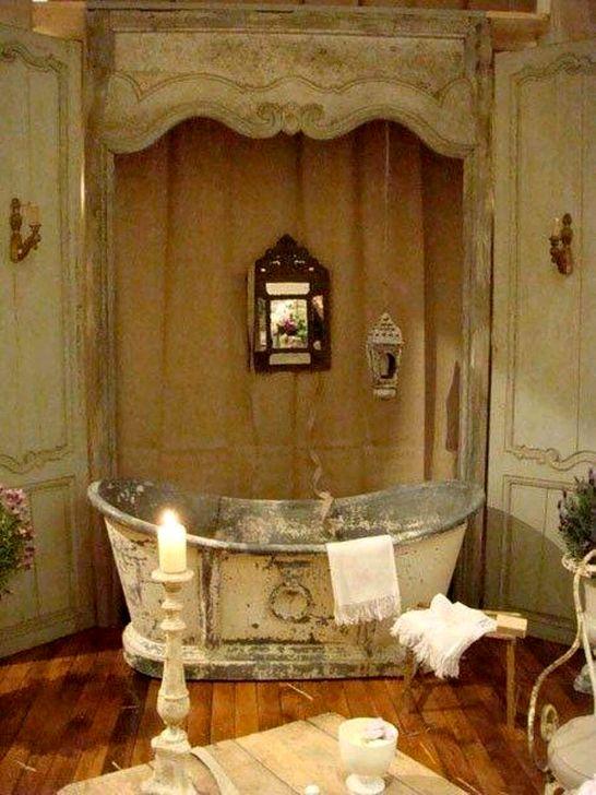 Cute Shabby Chic Bathroom Design Ideas 34