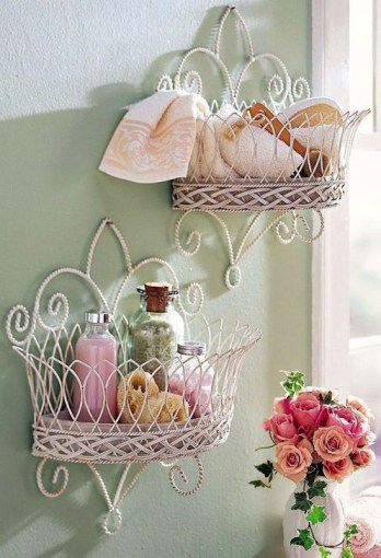Cute Shabby Chic Bathroom Design Ideas 37