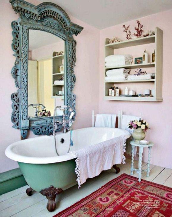 Cute Shabby Chic Bathroom Design Ideas 42
