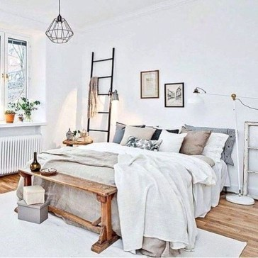 Genius Rustic Scandinavian Bedroom Design Ideas 25