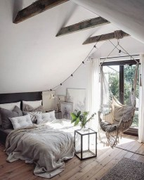 Genius Rustic Scandinavian Bedroom Design Ideas 36
