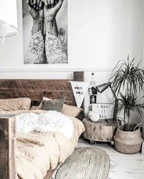 Genius Rustic Scandinavian Bedroom Design Ideas 42