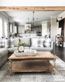 Gorgeous Farmhouse Design Ideas For Living Room 42