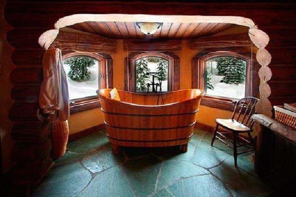 Marvelous Wooden Bathtub Design Ideas To Get Relax 05