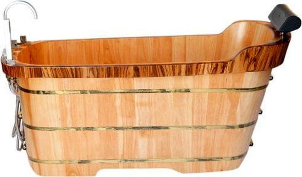 Marvelous Wooden Bathtub Design Ideas To Get Relax 07