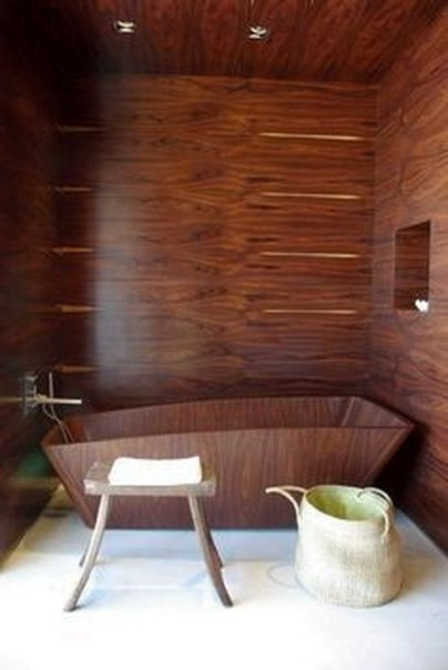 Marvelous Wooden Bathtub Design Ideas To Get Relax 10