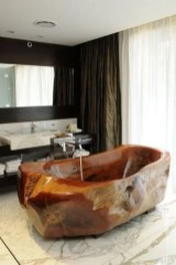 Marvelous Wooden Bathtub Design Ideas To Get Relax 12