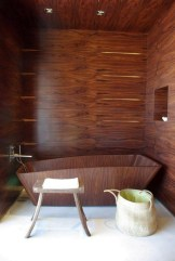 Marvelous Wooden Bathtub Design Ideas To Get Relax 14