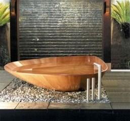 Marvelous Wooden Bathtub Design Ideas To Get Relax 22
