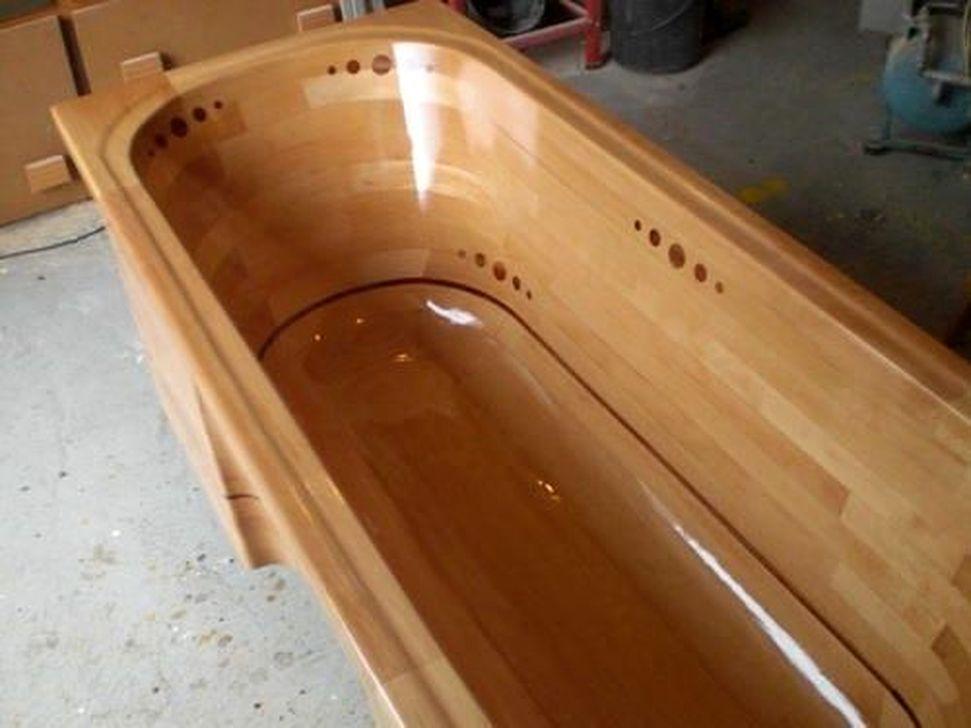 Marvelous Wooden Bathtub Design Ideas To Get Relax 35