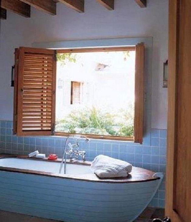 Marvelous Wooden Bathtub Design Ideas To Get Relax 43