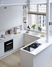Minimalist Small White Kitchen Design Ideas 31