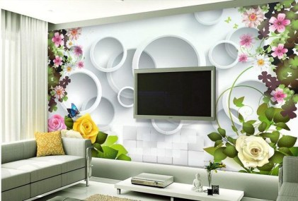 Perfect 3D Wallpapaer Design Ideas For Living Room 19