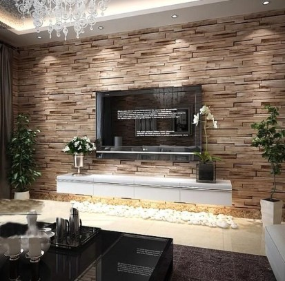 Perfect 3D Wallpapaer Design Ideas For Living Room 24