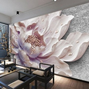 Perfect 3D Wallpapaer Design Ideas For Living Room 34
