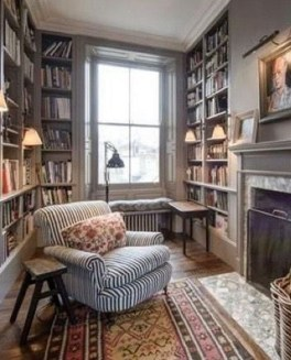 Wonderful Home Library Design Ideas To Make Your Home Look Fantastic 27