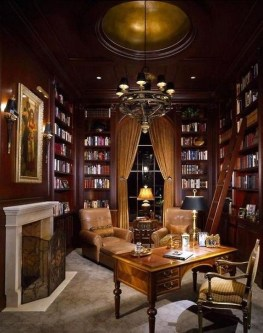 Wonderful Home Library Design Ideas To Make Your Home Look Fantastic 51