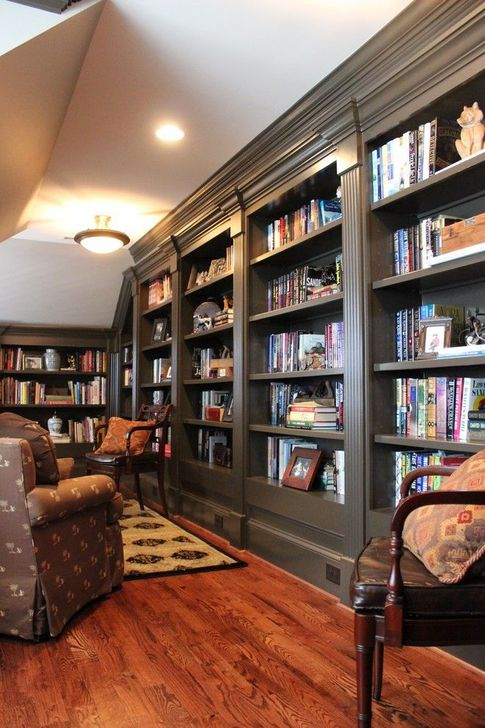 Wonderful Home Library Design Ideas To Make Your Home Look Fantastic 55